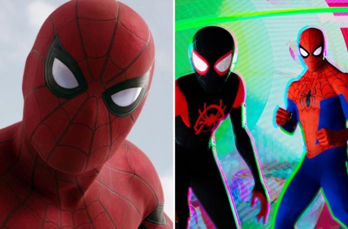 Tre versioni di Spider-Man