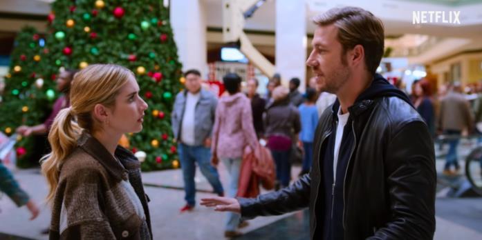 Sloane e Jackson discutono in una scena di Holidate