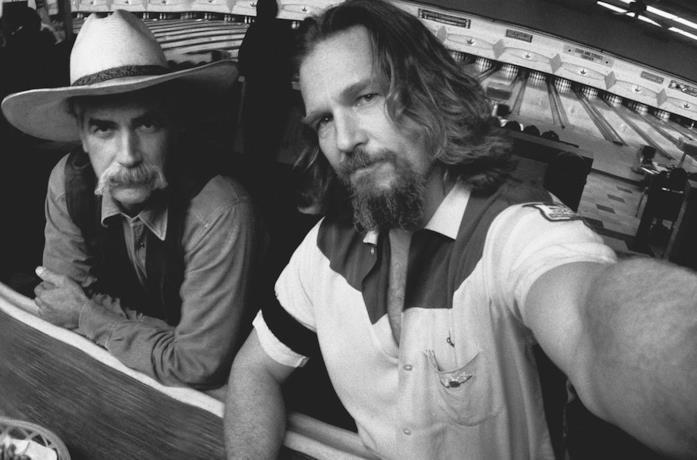 Uno scatto dal set di Jeff Bridges