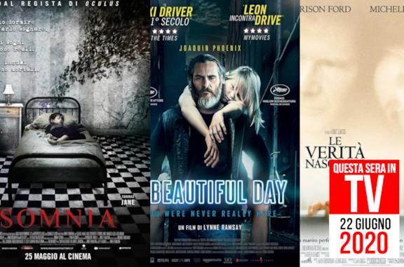 22 giugno, i film consigliati da vedere oggi in TV