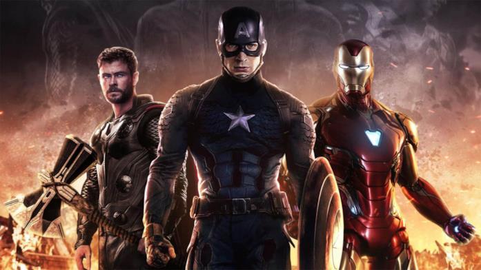 Thor, Cap e Iron Man nel poster del film