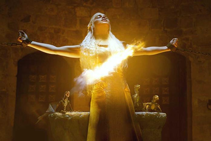 Un'immagine di Game of Thrones con Emilia Clarke