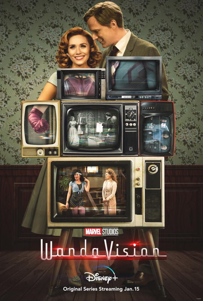 Wanda e Visione nella locandina della loro serie