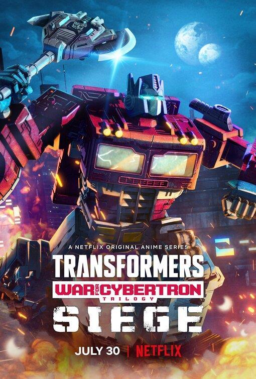Optimus Prime nel poster della serie animata Netflix