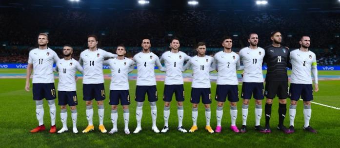 La nazionale di calcio italiana in eFootball PES 2021