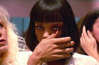Uma Thurman è Mia Wallace in Pulp Fiction