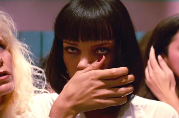 Uma Thurman è Mia Wallace in Pulp Fiction