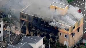 KyoAni sede colpita dall'incendio