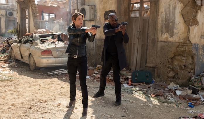 Nick Fury e Maria Hill nelle scene iniziali di Spider-Man: Far From Home