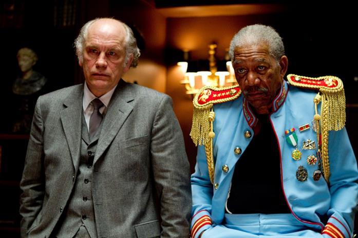 Morgan Freeman e John Malkovich in Red