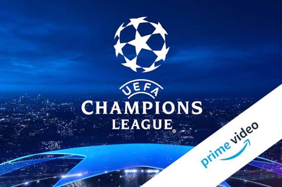 Il logo della UEFA Champsions League, in basso a destra quello di Amazon Prime Video