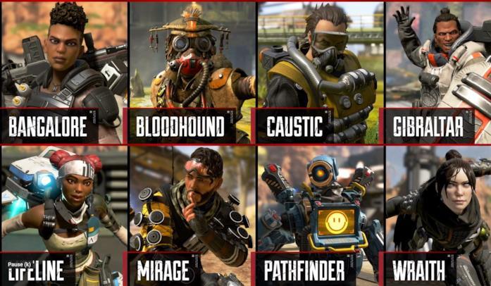 I protagonisti di Apex Legends, battle royale di Respawn Entertainment