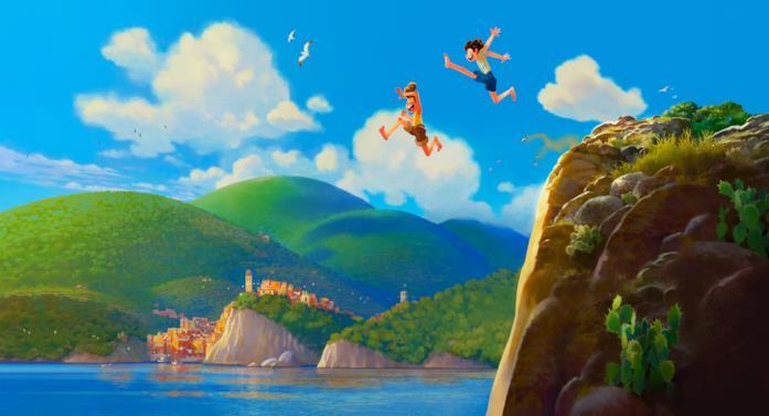 Una scena del nuovo film Pixar Luca