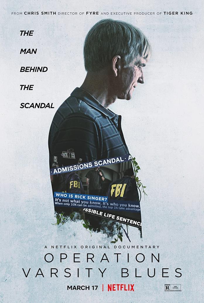 Il poster del docu-film Netflix Operazione Varsity Blues: scandalo al college
