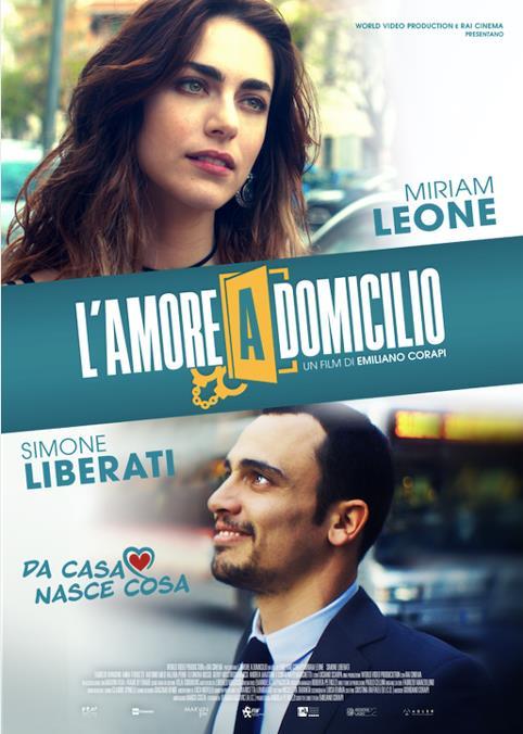 Miriam Leone e Simone Liberati nel poster de L'amore a domicilio