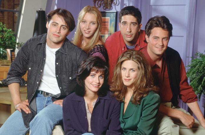 Il cast di Friends in uno scatto promozionale della prima stagione
