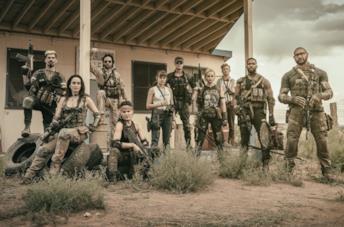 Un'immagine del cast di Army of the Dead