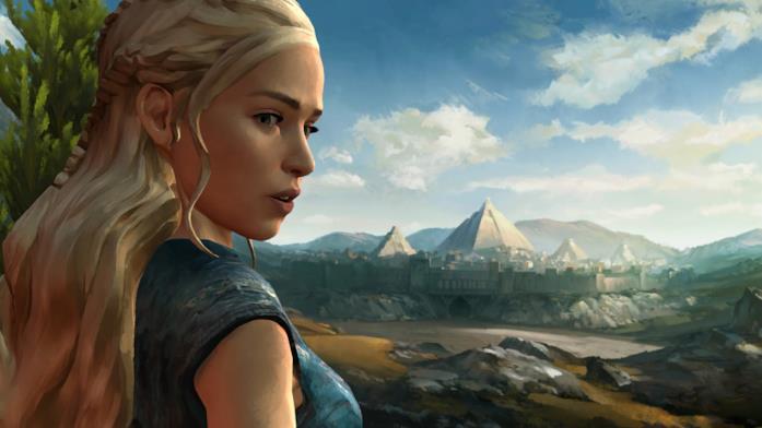 Un primo piano di Daenerys Targaryen in Telltale's Game of Thrones