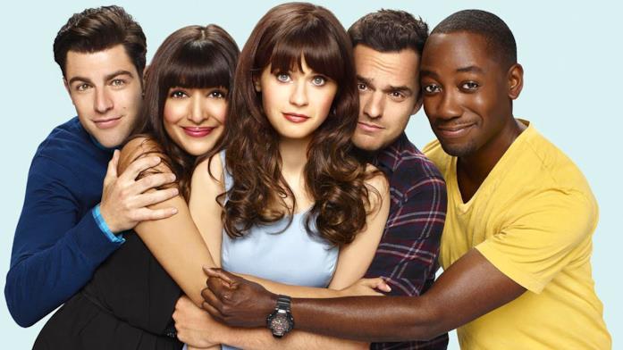 I cinque abitanti del loft protagonisti della sitcom