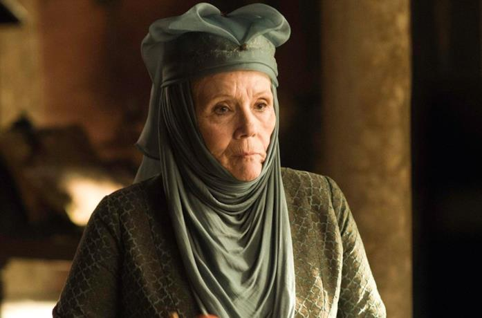 Diana Rigg nei panni di Olenna Tyrell in Game of Thrones