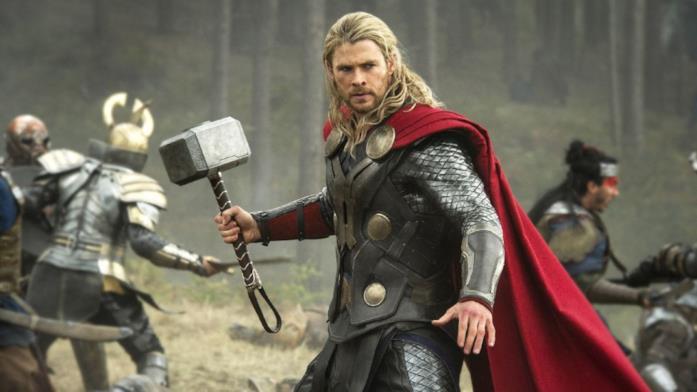 Un'immagine che ritrae Chris Hemsworth nei panni di Thor