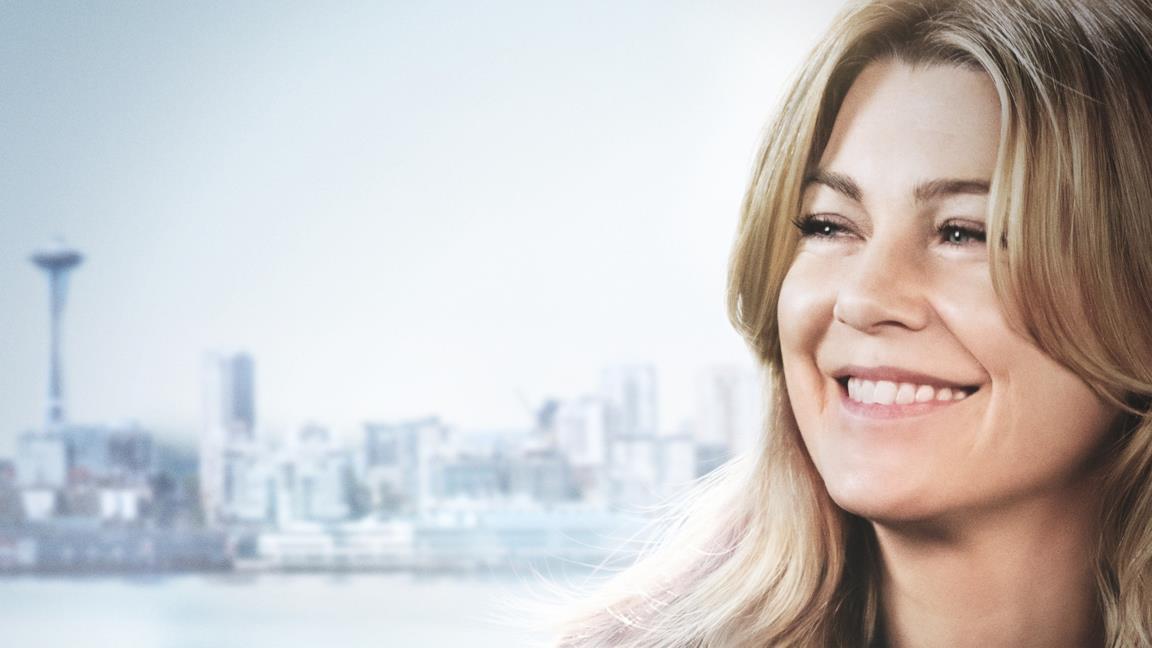 Una locandina di Grey's Anatomy con Meredith protagonista