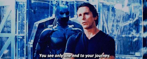 Christian Bale nel film Il cavaliere oscuro