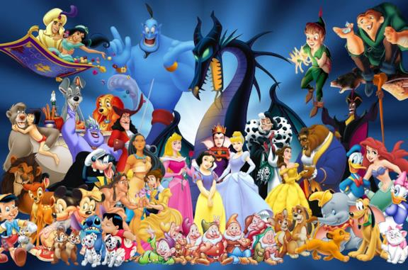 Il mondo animato Disney i personaggi di film e serie tv