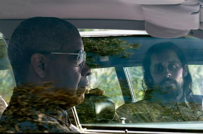 Denzel Washington e Jared Leto in Fino all'ultimo indizio