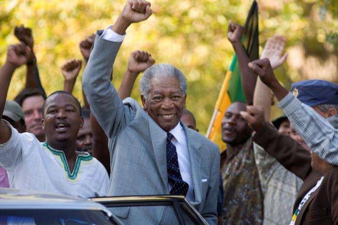 Morgan Freeman interpreta Nelson Mandela in Invictus