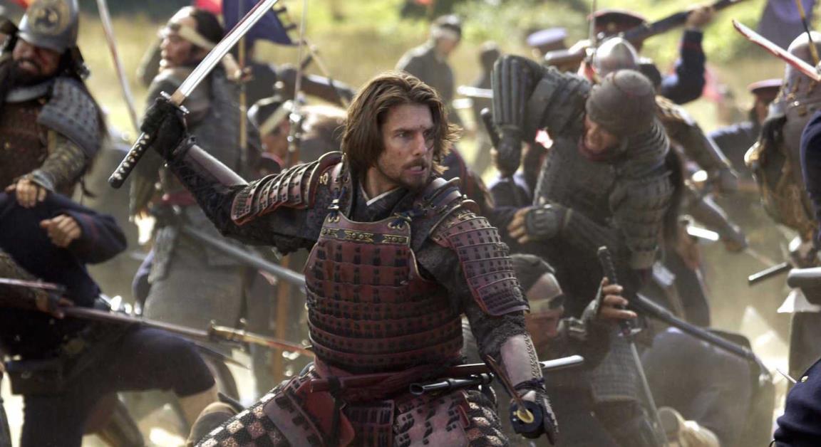 Tom Cruise in una scena de L'Ultimo Samurai