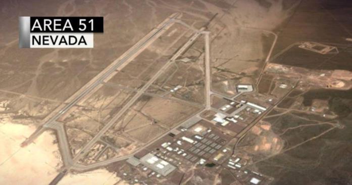 Un'inquadratura dall'alto dell'Area 51
