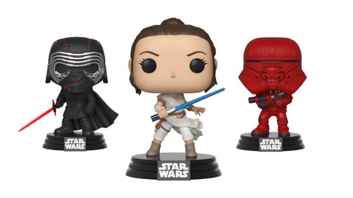 Kylo Ren, Rey e Sith Jet Trooper Funko Pop