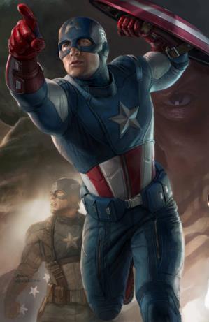 Steve Rogers con la sua prima tuta da Cap