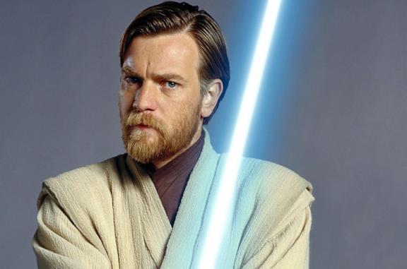 Un'immagine con Ewan McGregir nei panni di Obi-Wan Kenobi