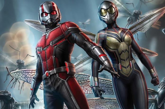 Ant-Man e The Wasp circondati dalle formiche