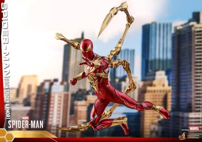 Il supereroe Spider-Man in variante Iron Spider
