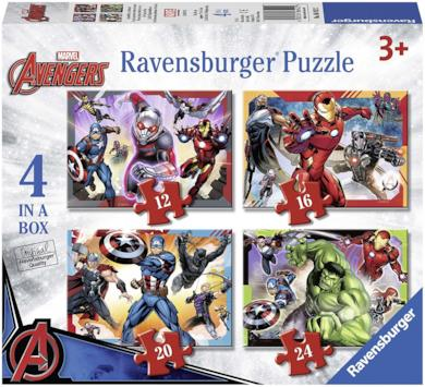 Ravensburger Italy- Marvel Avengers Puzzle 4 in 1