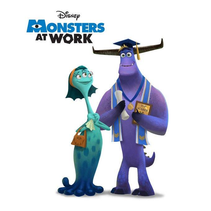 Un'immagine ufficiale di Monsters at Work