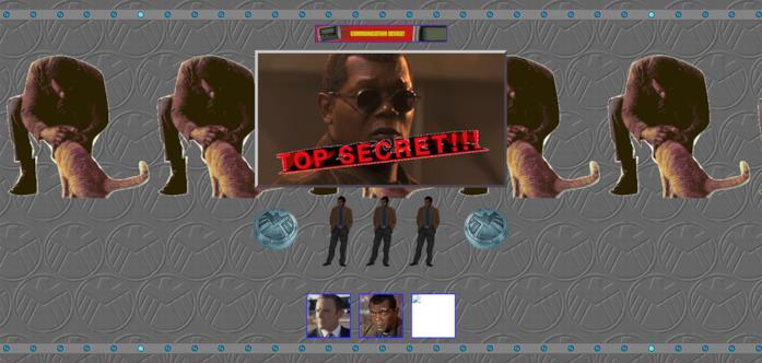 Screen del sito ufficiale di Captain Marvel, sezione dedicata allo S.H.I.E.L.D.
