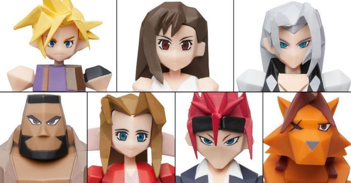 Final Fantasy VII Action Figures poligonali