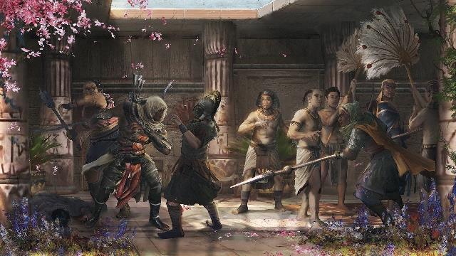 Assassin's Creed Orgins porta l'arte su Facebook