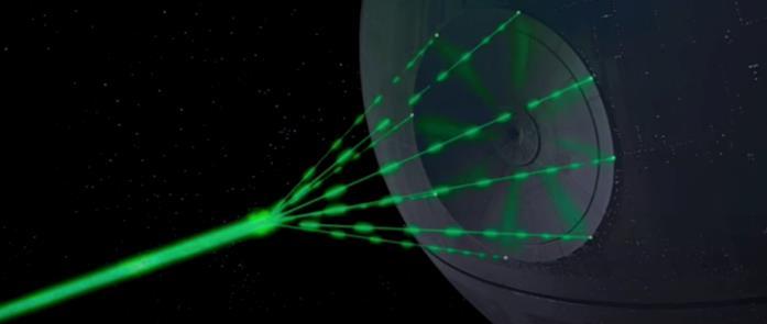I raggi laser verdi della Morte Nera