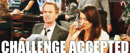 Barney accetta la sfida di fianco a Robin che beve whisky