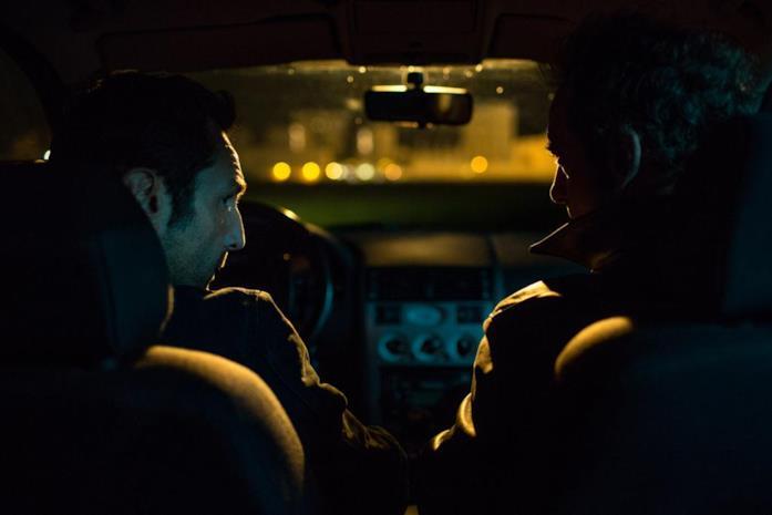 Gilles Lellouche e Vincent Lindon in una scena di Mea culpa