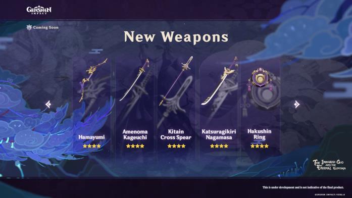 Le nuove armi che si possono forgiare con Genshin Impact 2.0
