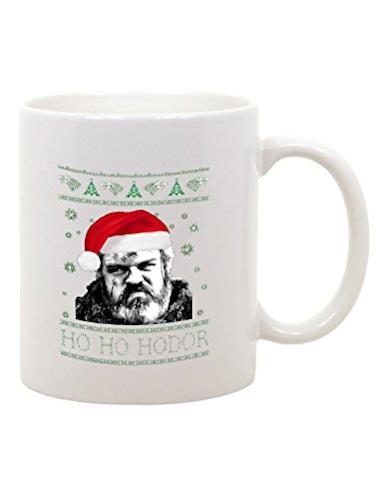 bubbleshirt Tazza Mug in Ceramica Ho Ho Hodor - Liviu Hodor - Game of Thrones - Il Trono di Spade - Serie TV - Christmas - Natale - Idea Regalo