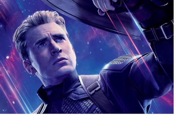 Chris Evans nel ruolo di Captain America