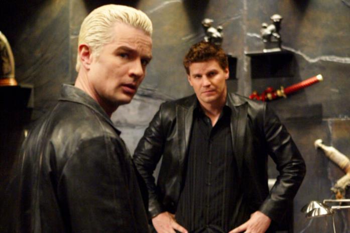 James Marsters e David Boreanaz in Angel