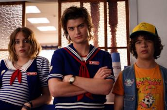 Robin, Steve e Dustin in Stranger Things 3